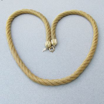 Vintage TRIFARI Twisted Four Strand Mesh Rope Necklace