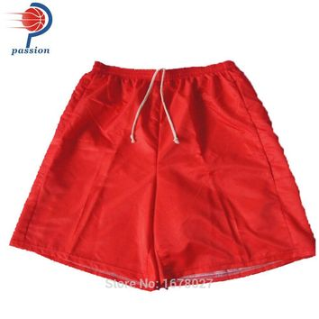 Sales Pure Red Or White Men's Volleyball Shorts In Summer Free Design Soccer Shorts For Teams With Sublimation Printing