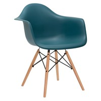 Vortex Arm Chair in Teal