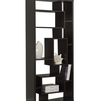 "Cappuccino Hollow-Core 72""H Bookcase"