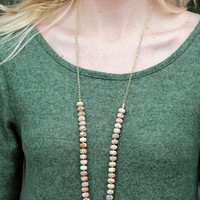 Everyday Beaded Necklace - Natural Stone