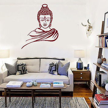 Wall Stickers Vinyl Decal Buddha Buddhism Enlightenment Nirvana Yoga (ig1401)