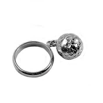 925 Sterling Silver Ball and Chain 13MM Ring