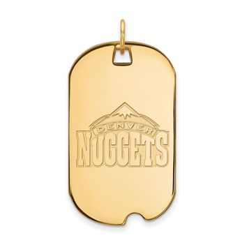 NBA Denver Nuggets 10k Yellow  Gold Large Dog Tag Pendant