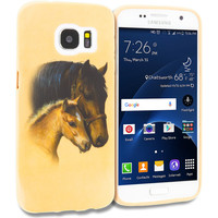 Horse TPU Design Rubber Skin Case Cover for Samsung Galaxy S7 Edge