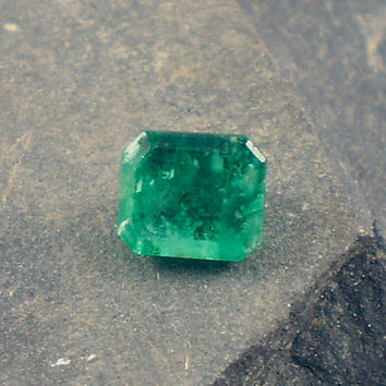 Emerald: 0.81ct Green Emerald Shape Gemstone, Natural Hand Made Faceted Gem, Loose Precious Beryl Mineral, Cut Crystal Jewelry Supply 20059