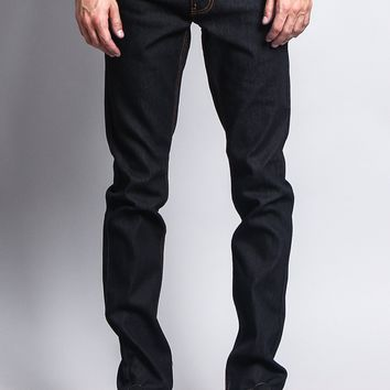Men's Skinny Fit Raw Denim Jeans DL938 (Black/Timber)