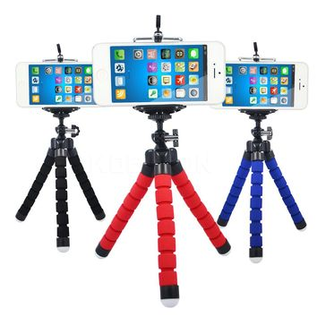 Car Phone Holder mini Flexible Octopus Tripod Bracket Selfie Stand Mount Monopod for iPhone Samsung LG phone and Camera