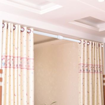 Adjustable Spring Loaded Tension Rod Shower Curtain Rail Pole