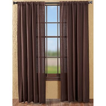 Burlap Chocolate Panel Curtains