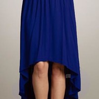 Breezy Stroll High Low Skirt in Navy Blue | Sincerely Sweet Boutique