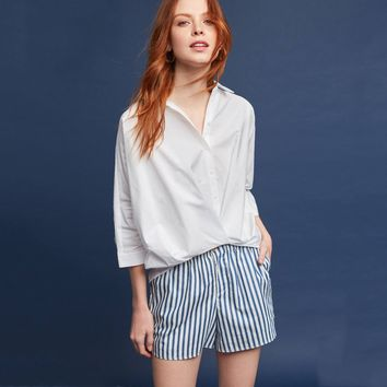 Women White Fahsion Blouse shirts Tops