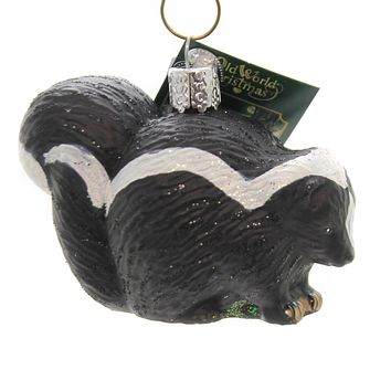 Old World Christmas SKUNK. Glass Peaceful Courage Self-Assured 12553