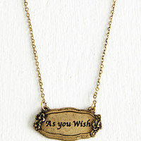 Sayings Wish Upon a Charm Necklace by ModCloth