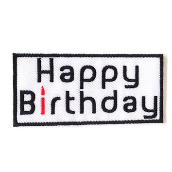 Happy Birthday Applique Iron on Patch Size 9.6 x 4.5 cm