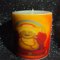 Laughing Buddha Zen Candle