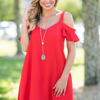 In A Perfect World Dress, Red