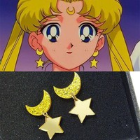 Moon Stud Earrings