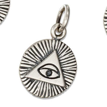 SALE Sterling Silver All Seeing Eye Charm
