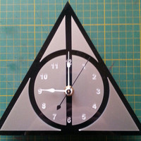 Harry Potter -  Deathly Hallows symbol clock #2