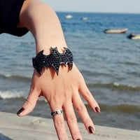Unique Punk Cool Rhinestone Bat Bracelet