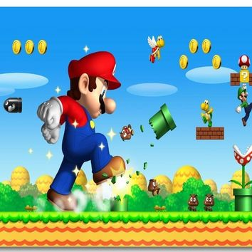 Super Mario party nes switch Custom Canvas Wall Mural Mega  Bros Wallpaper  Bedroom Decor Video Game Poster Luigi Wall Stickers #0469# AT_80_8