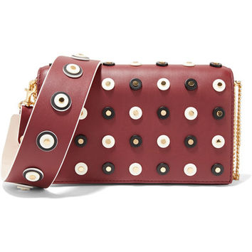 Diane von Furstenberg - Soirée embellished leather shoulder bag