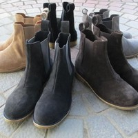 2017 high quality vintage best chelsea boots kanye west boots real leather 1:1 fishion life euro America GDBV style max us12.5