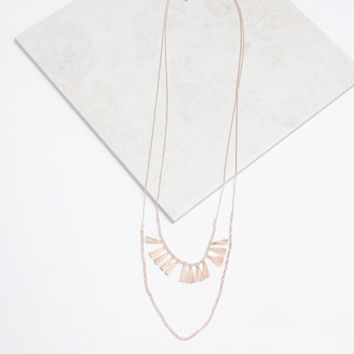 Missing Pieces Necklace in Pink