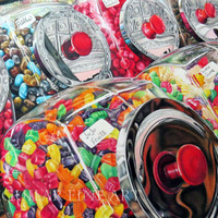 Colored Pencil Candy Art Print, Colorful Candy Art Print, Fine Art Print, Colorful Art, Candy Art Print, Food Art Print, Kitchen Art