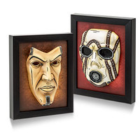 Borderlands Hand-Painted Framed Resin Masks