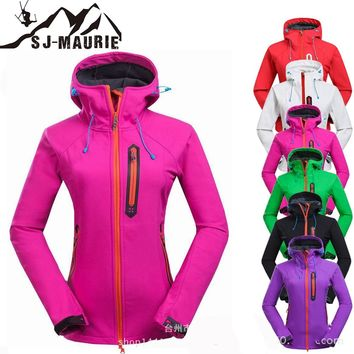 SJ-Maurie Winter Coat Female Hiking Skiing Trekking Jackets Women Outdoor Sportwear Windbreaker Jackets S-3XL Chaqueta Trekking