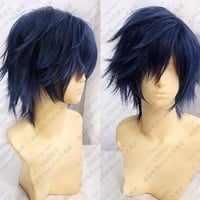 Uta No Prince Sama Ichinose Tokiya Wig Dark blue Short Shaggy Layered Anime Cos Wig Free Shipping
