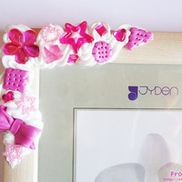 PINK DecoDen PICTURE FRAME by FrozenNote on Etsy