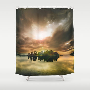 Lithium Shower Curtain by HappyMelvin