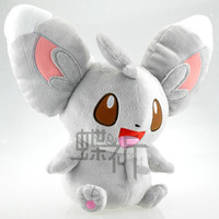 29cm Pokemon Go Crystal Version Minccino Plush Doll Toy For Gift Mythical Pokemon go High Quality Free Shipping