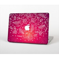 "The Vibrant Pink & White Branch Illustration Skin Set for the Apple MacBook Pro 13"" with Retina Display"