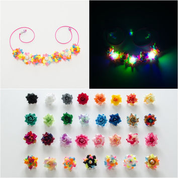 Customizable LED Rose Flower Crown, Flower Headband, Coachella Crown, Electric Daisy Carnival, SnowGlobe Music Festival, Life in Color, Ezoo