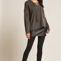 Brushed Sweater-Knit Top