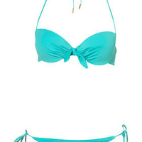 Gathered Bow Pushup Bikini - Swimwear  - Apparel  - Topshop USA