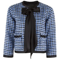 Marc Jacobs - Cropped Tweed Jacket (Blue)