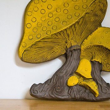 Vintage Retro Mushroom Cluster Wall Hanging Home Decor