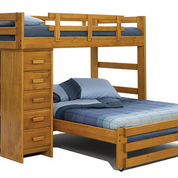 Blue Ridge Twin over Full Storage Loft Bed