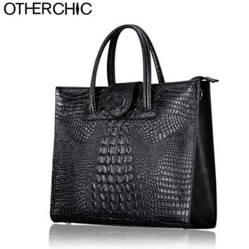 OTHERCHIC Crocodile Women Leather Handbags Fashion Women Bag Ladies Shoulder Bags Purse Handbag Brand Portfolio Briefcase 2009