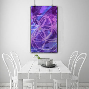 Seed of life, Flower of Life Abstract Print Wall Art, Sacred Geometry Home Decor, Abstract Wall Decor