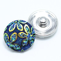 18mm snaps Alloy Resin Fashion Snaps Buttons Fit ginger snaps jewelry snaps Bracelets/Necklace/Rings GS1110054