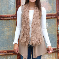 Your Way Fur Layers Vest {Brown}