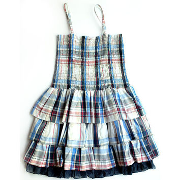 Silvian Heach - Girl Romantic Plaid Summer Dress