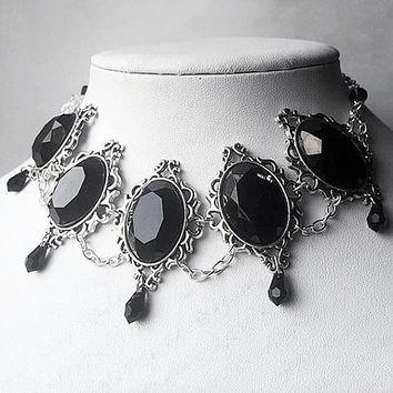 Gothic Morgana Jewel Necklace