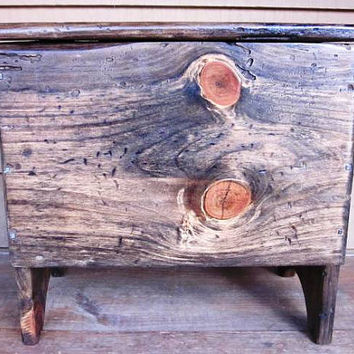 Storage Bench, Chest  or Primitive Toy Box from Reclaimed Pine
